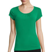 Worthington® Short-Sleeve Scoopneck T-Shirt - Tall