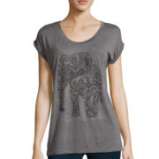 i jeans by Buffalo Short-Sleeve Embellished T-Shirt