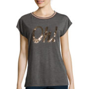 i jeans by Buffalo Sequin Short-Sleeve Top