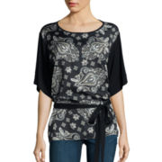 i jeans by Buffalo Short-Sleeve Printed Tunic