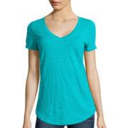 Stylus™ Relaxed Fit Slub V-Neck T-Shirt