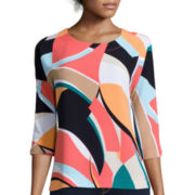 Stylus™ 3/4-Sleeve Dolman Stripe Shirt - Tall