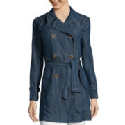 Liz Claiborne® Belted Trench Coat
