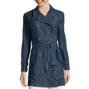 Liz Claiborne® Belted Trench Coat