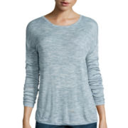 Liz Claiborne® Long-Sleeve Drapey Pullover Sweater