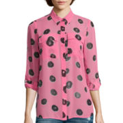 I 'Heart' Ronson® Roll-Cuff Printed Top