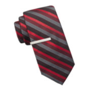 JF J. Ferrar® Celebration Stripe II Slim Tie