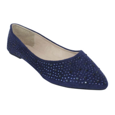 jcpenney.com | Rhinestone Pointy-Toe Ballet Flats