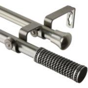 """Threaded 13/16"""" Adjustable Double Curtain Rod"""