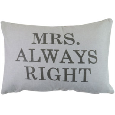jcpenney.com | Park B. Smith® Mrs Always Right Decorative Pillow