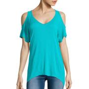 Decree® Cold Shoulder Oversized T-Shirt