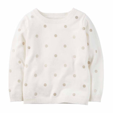jcpenney.com | Carter's Crew Neck Long Sleeve Cotton Pullover Sweater - Toddler