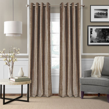 jcpenney.com | Victoria Velvet Grommet-Top Curtain Panel