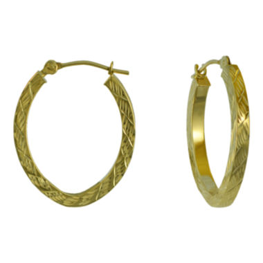 jcpenney.com | Diamond-Cut 14K Gold 18mm Hoop Earrings
