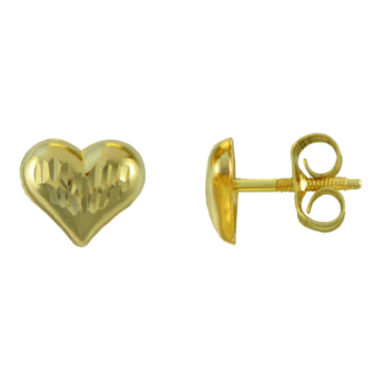 jcpenney.com | Girls 14K Gold Heart Stud Earrings