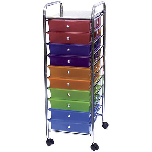 Cropper Hopper 10-Drawer Rolling Cart