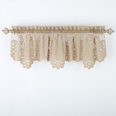 jcpenney.com | JCPenney Home™ Shari Lace Rod-Pocket Tailored Valance