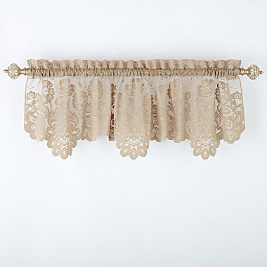 Jcp Home Shari Lace Rod Pocket Tailored Valance