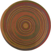 Monticello Reversible Braided Indoor/Outdoor Round Rug