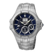 Seiko® Mens Kinetic Perpetual Silver-Tone Watch