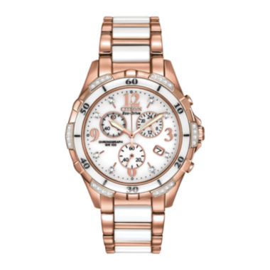 jcpenney.com | Citizen® Eco-Drive® Womens Diamond-Accent Chronograph Sport Watch FB1233-51A