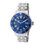 Peugeot® Mens Blue Dial Silver-Tone Sport Watch