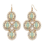 Decree® Metal Chandelier Earrings