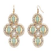 Decree® Metal Chandelier Earrings