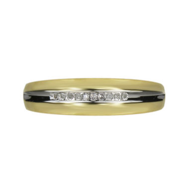 jcpenney.com | Mens Diamond-Accent 10K Yellow Gold Wedding Band