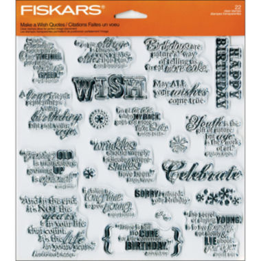 jcpenney.com | Fiskars Quote Clear Scrapbook Stamps
