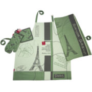 Rue Montmarte Bonjour Paris Kitchen Linen Accessory Set