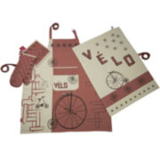 Rue Montmarte Vol de Velos Gingembre Kitchen Linen Accessory Set