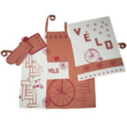 Rue Montmarte Vol de Velos Orange Sanguine Kitchen Linen Accessory Set
