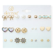 Decree® 12-pc. Gold-Tone Fashion Stud Earring Set