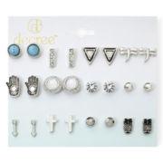 Decree® 12-pc. Silver-Tone Fashion Stud Earring Set