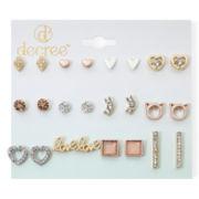 Decree® 12-pc. Gold-Tone Fashion Stud Earring Set