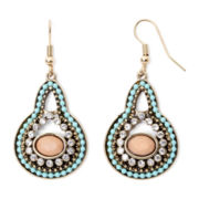 Decree® Metal and Stone Earrings