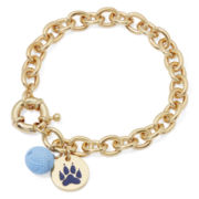 Pet Friends Gold-Tone Paw Yarn Ball Bracelet