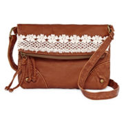 T-Shirt and Jeans™ Crochet Crossbody Bag with Flap