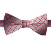 Van Heusen® Cedar Grid Pre-Tied Silk Bow Tie