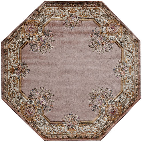 Momeni® Open Field Hand-Carved Wool Octagonal Rug
