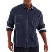 D'Amante Long-Sleeve Woven Shirt-Big & Tall