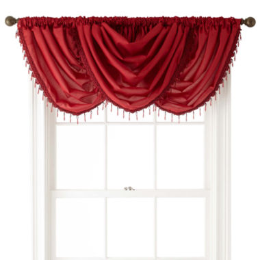 jcpenney.com | Royal Velvet® Encore Rod-Pocket Waterfall Valance