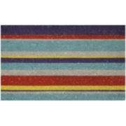 Multi Stripe Coir Rectangular Doormat