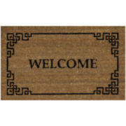 Lattice Welcome Coir Rectangular Doormat