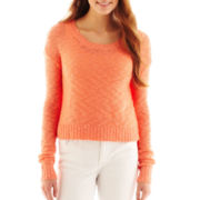 Arizona Long-Sleeve Slub Knit Sweater
