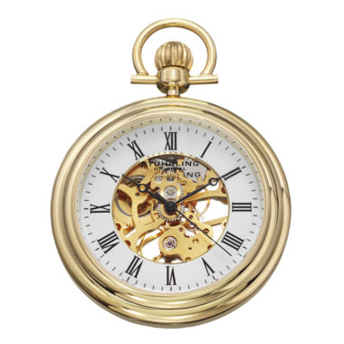 jcpenney.com | Stührling® Original Mens Gold-Tone Stainless Steel Skeleton Automatic Pocket Watch