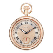 Stührling® Mens Rose-Tone Stainless Steel Pocket Watch