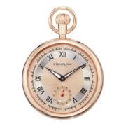 Stührling® Mens Rose-Tone Stainless Steel Pocket Watch