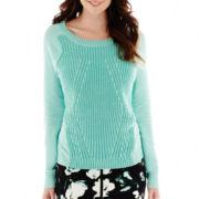 Worthington® Long-Sleeve Textured Sweater - Tall